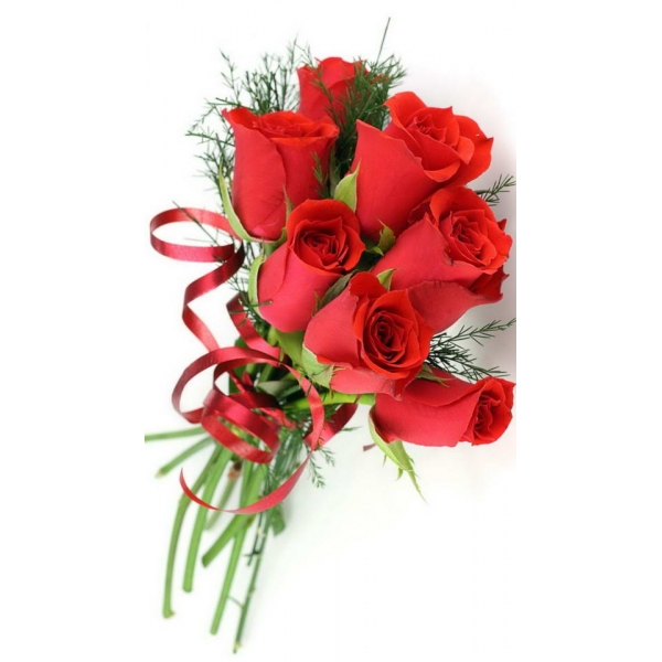 Red Rose With Ribbons